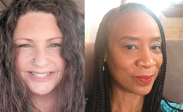 Lansing mayoral candidate Kathie Dunbar (left) completely denies accusations by Rina Risper (right), who claims the Councilwoman sexually harassed her and also used the'N' word to her despite having been told not to. Now a former Lansing resident says she was with the two of them when Dunbar used the 'N' word. Dunbar denies it.