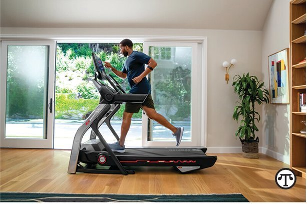 Try the connected Bowflex T22 treadmill, which offers a 22-inch console with an adjustable HD touchscreen, plus engaging content and custom coaching with the JRNY digital fitness platform.