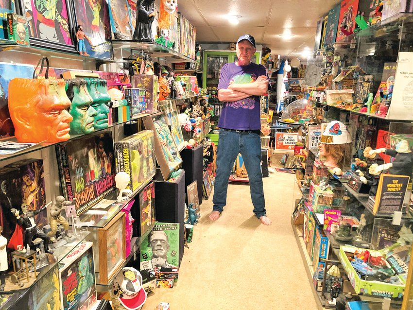 "Tesco Vee, formerly of The Meatmen and the ""Touch and Go"" zine, now focuses on his rapidly growing toy, record and memorabilia collection."