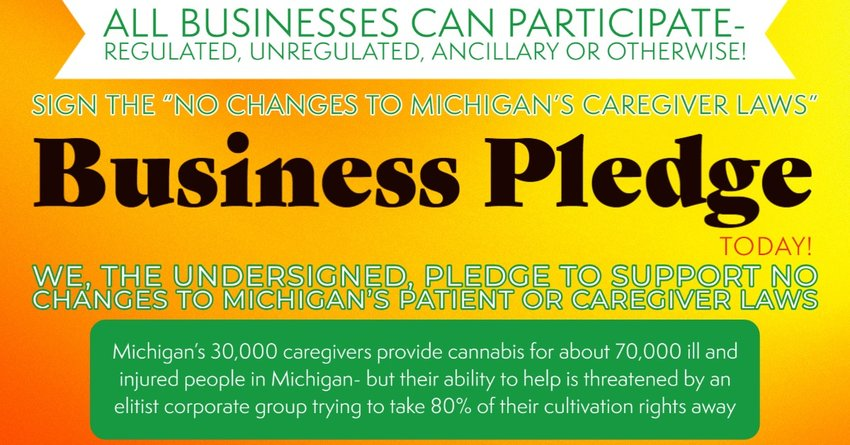 """An online """"pledge"""" against changes for medical marijuana caregivers has garnered support from hundreds of businesses."""