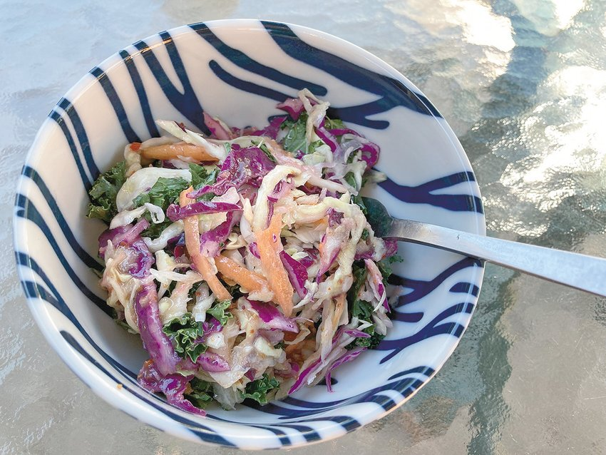 Cole slaw made with Ari LeVaux's special recipe, which is based on one of his favorite restaurants in New Mexico.
