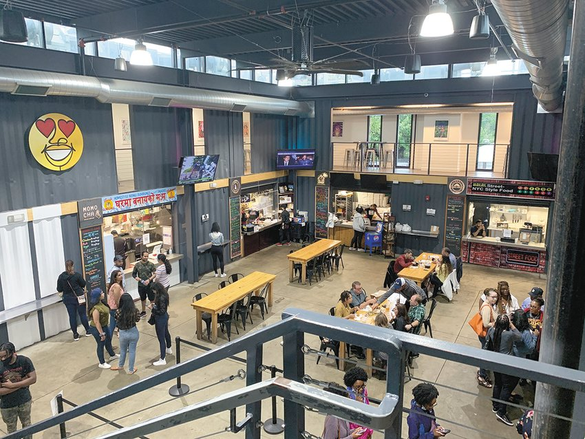 The Detroit Shipping Co. features an eclectic blend of food vendors.