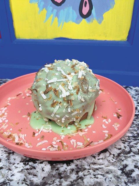 "Good Truckin' Diner's key lime ""bonut."" Flavors of bonut change each week."