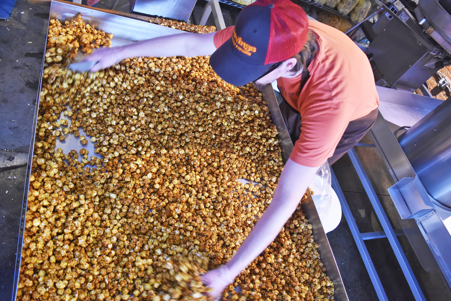 Cravings Gourmet Popcorn's caramel corn recipe is tested and refined on a monthly basis.