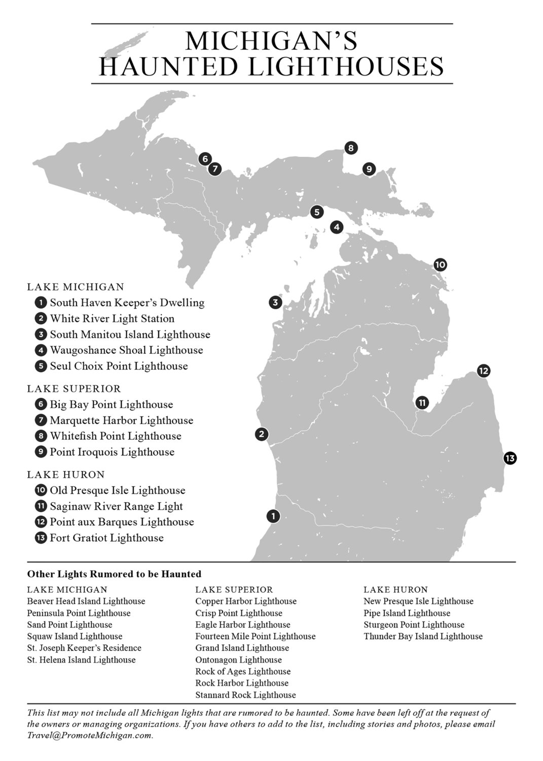 Great Lakes haunted lighthouses.