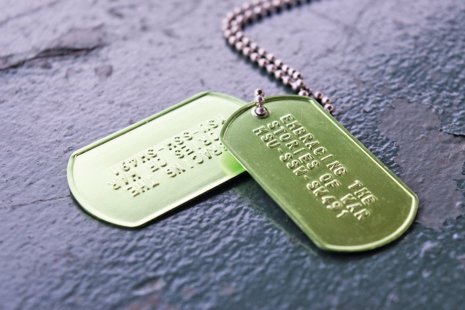 MSU's Combat Veteran Certificate course gives students a pair of green dog tags.