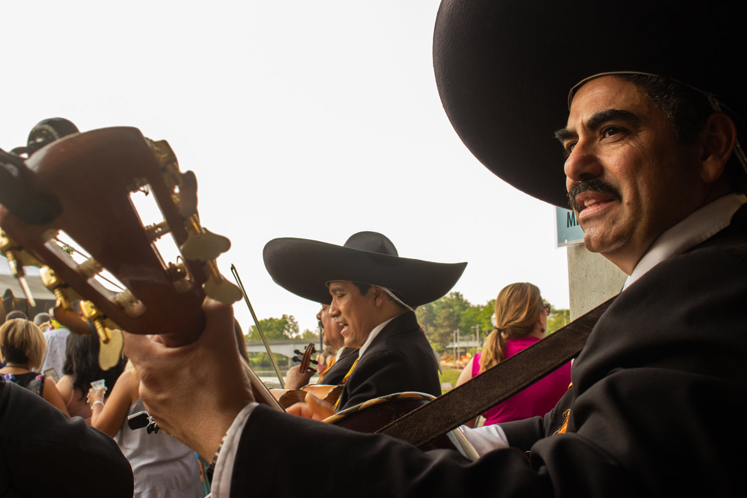 Traveling mariachi troupe, Mariachi Cristal, kept the energy alive during this year's festival.