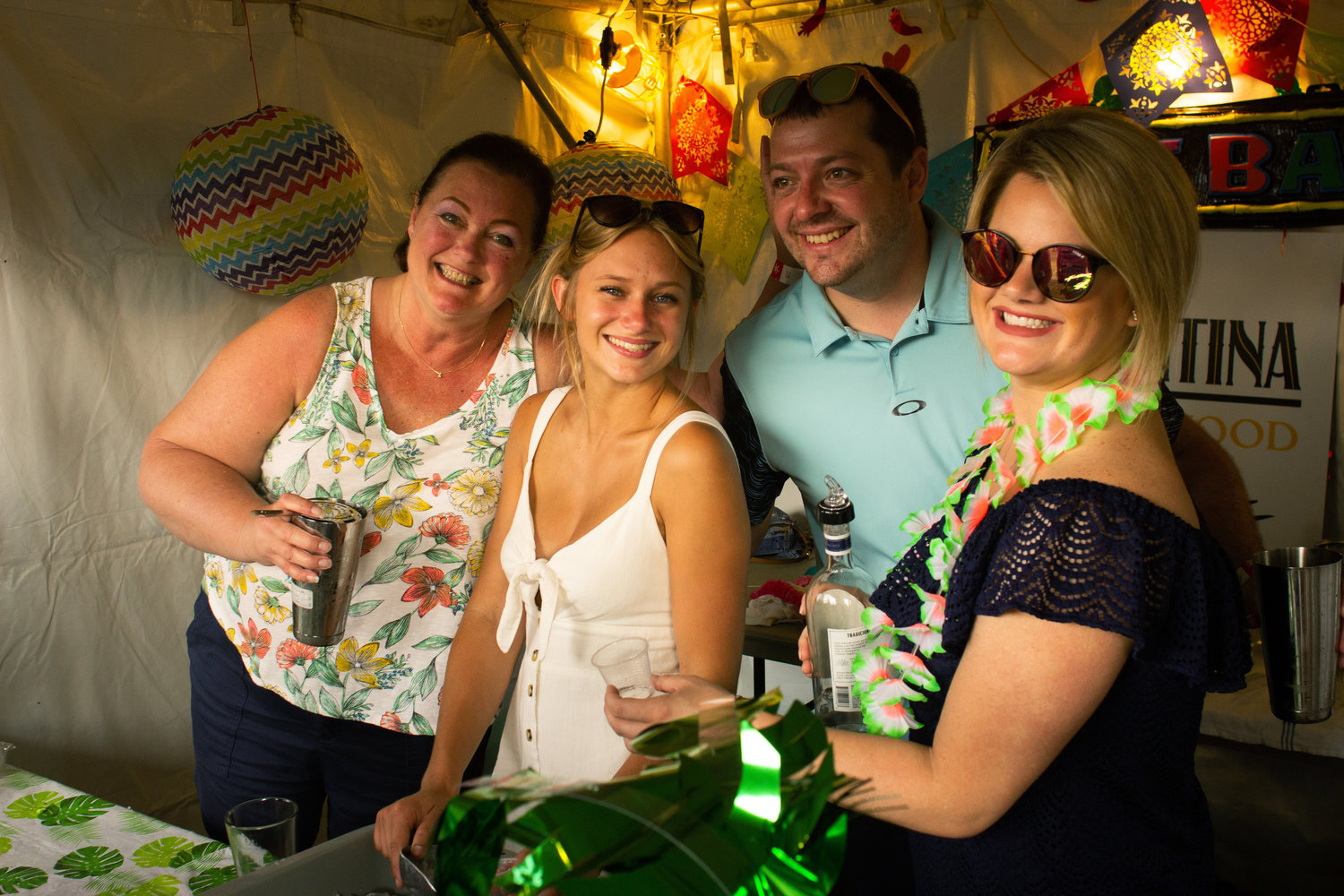 "Cantina Eastwood won ""Best Margarita"" with their traditional recipe using lime juice, orange oil and Jose Cuervo Silver. (Left to right): Manager Celia Sandberg, Autumn Langdon, Mike Bannister and Kelly Hertzer."