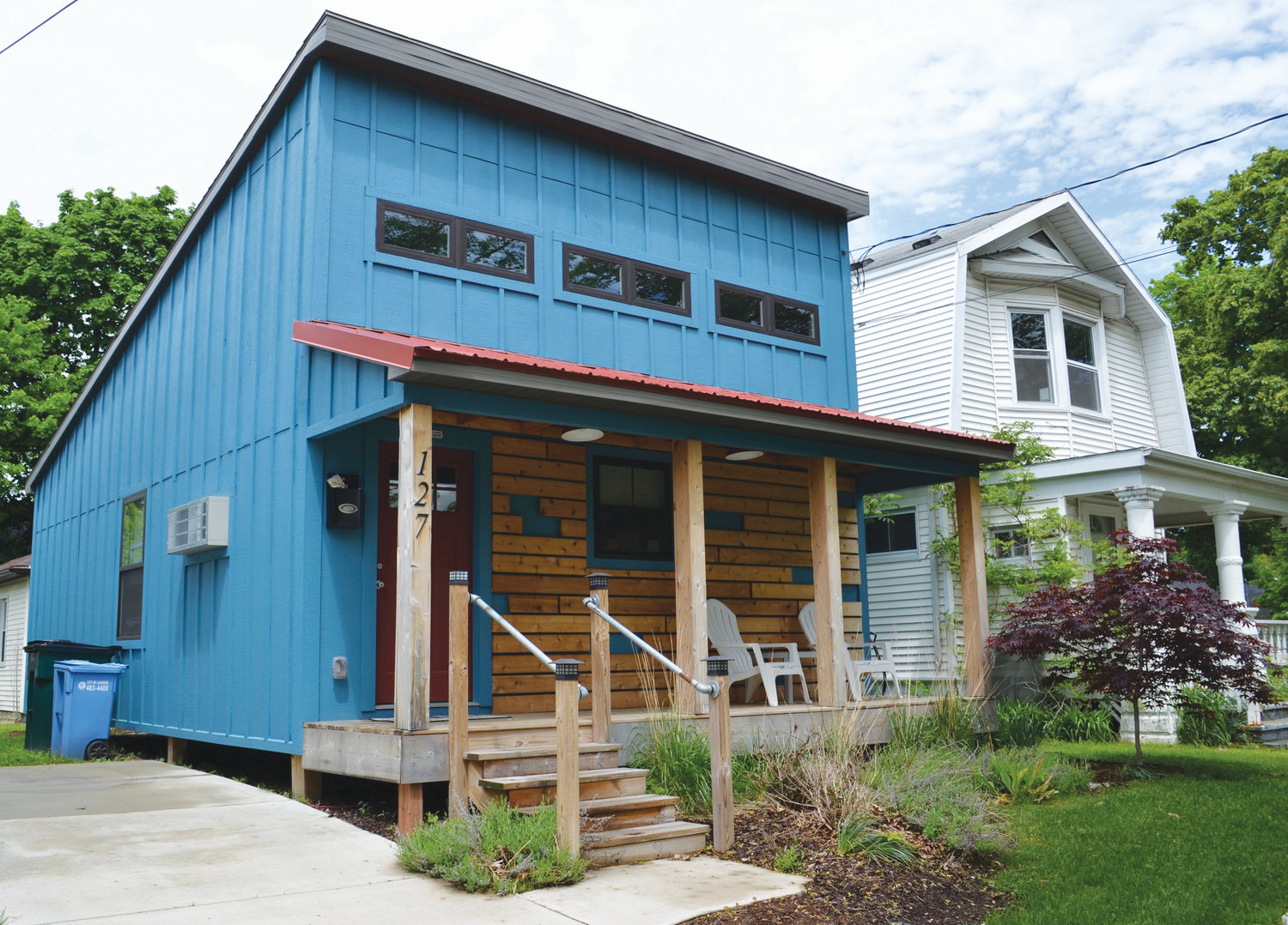 Developer Brent Forsberg is eager to tap further into the smaller-home market in Lansing after the successful construction of this 600-square-foot, one-bedroom home on Elm Street in REO Town.