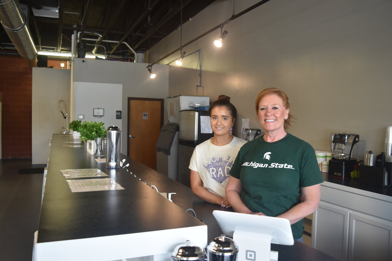Owners Brianna and Janet Lightfoot look to supply Lansing with low calorie shakes and teas.