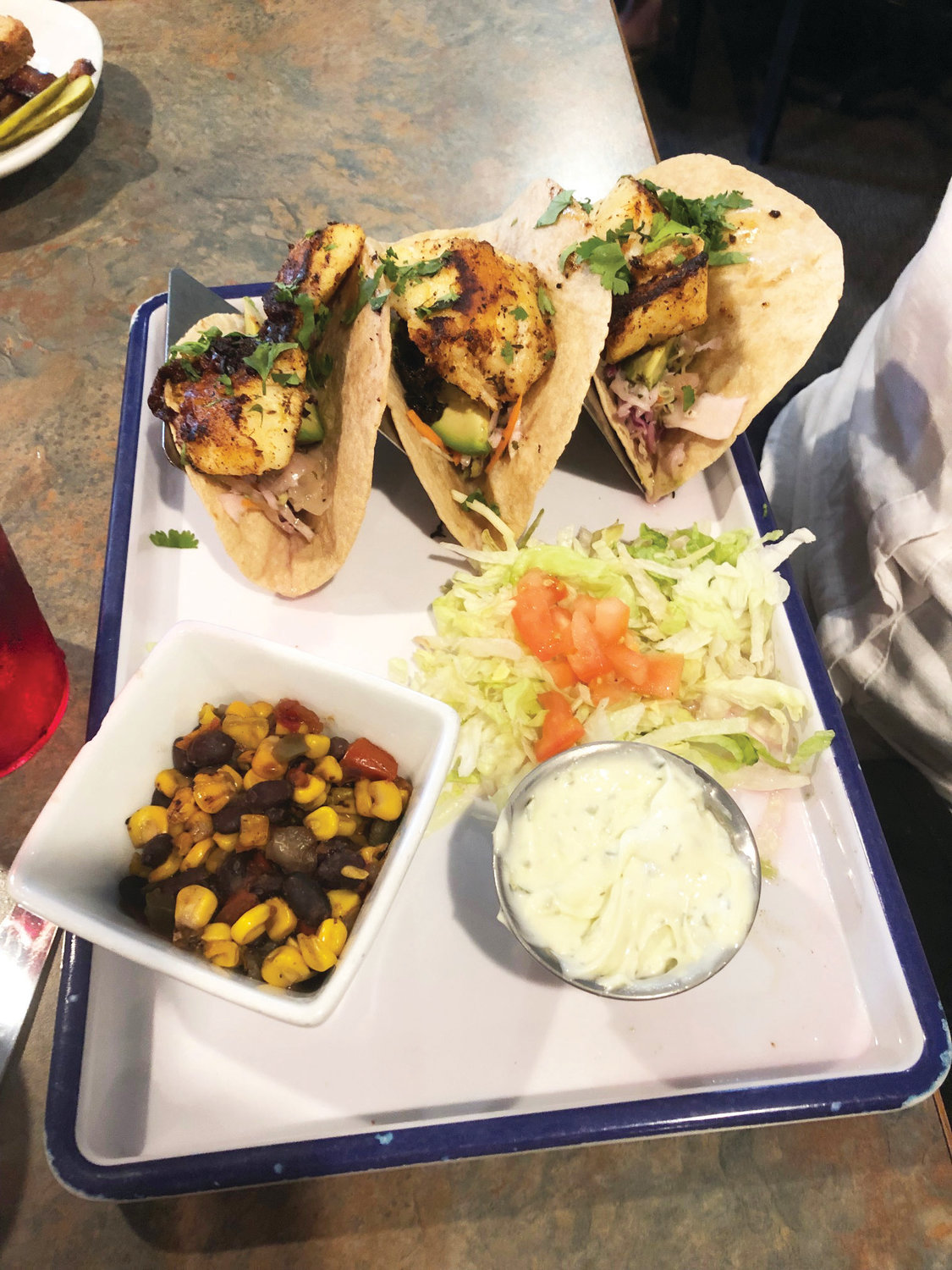 Fish tacos from Ryan's Roadhouse