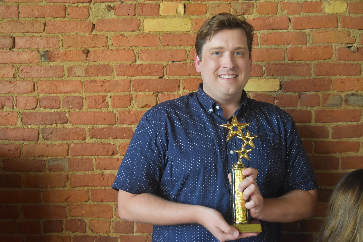 "Garrett Bradley took home two awards for Best Director in a Musical and Best Musical for ""Mamma Mia!"""