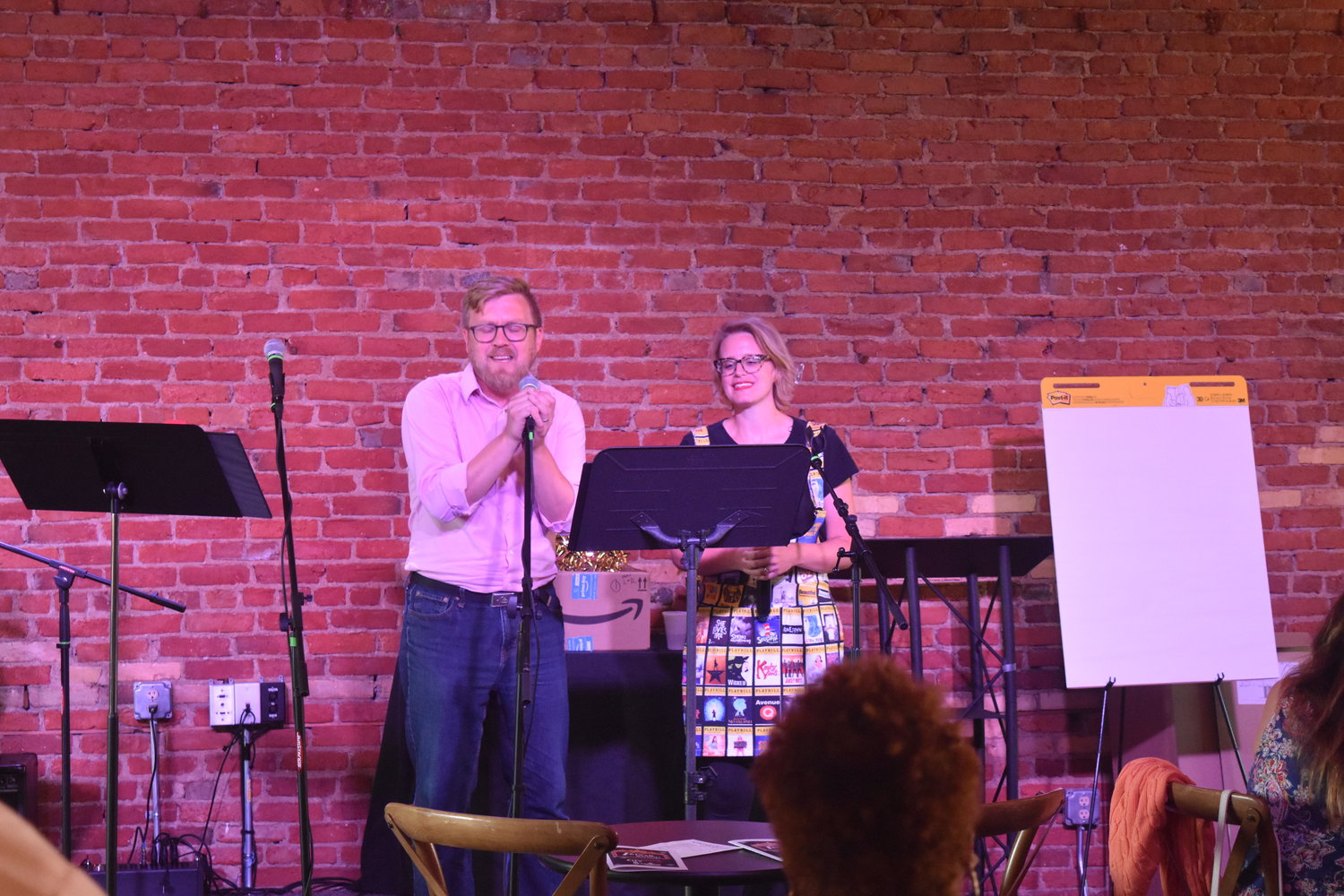 Josh Martin (left) and his wife Nicole sang a cooky, yet adorable medley of love songs from this season.