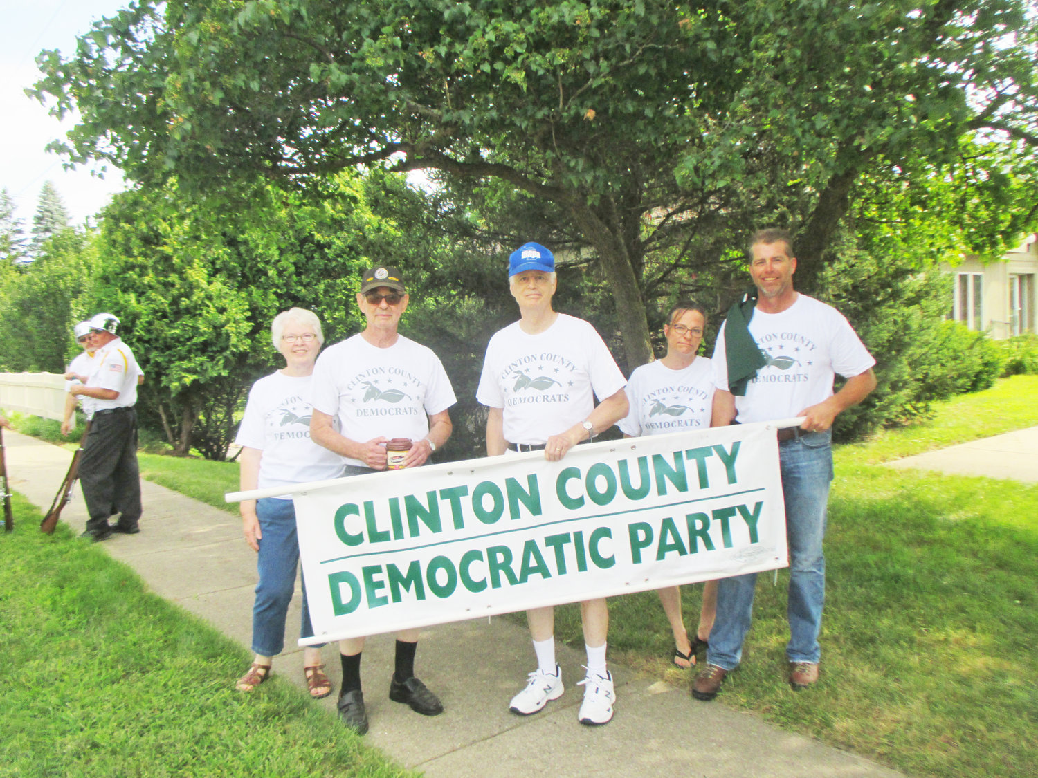 Democrats work to organize Bath Township. Left to right: Johanna Balzer, Ted Gregg, Jim Nelson, Roberta Schlenkermann and Eric Schlenkermann.