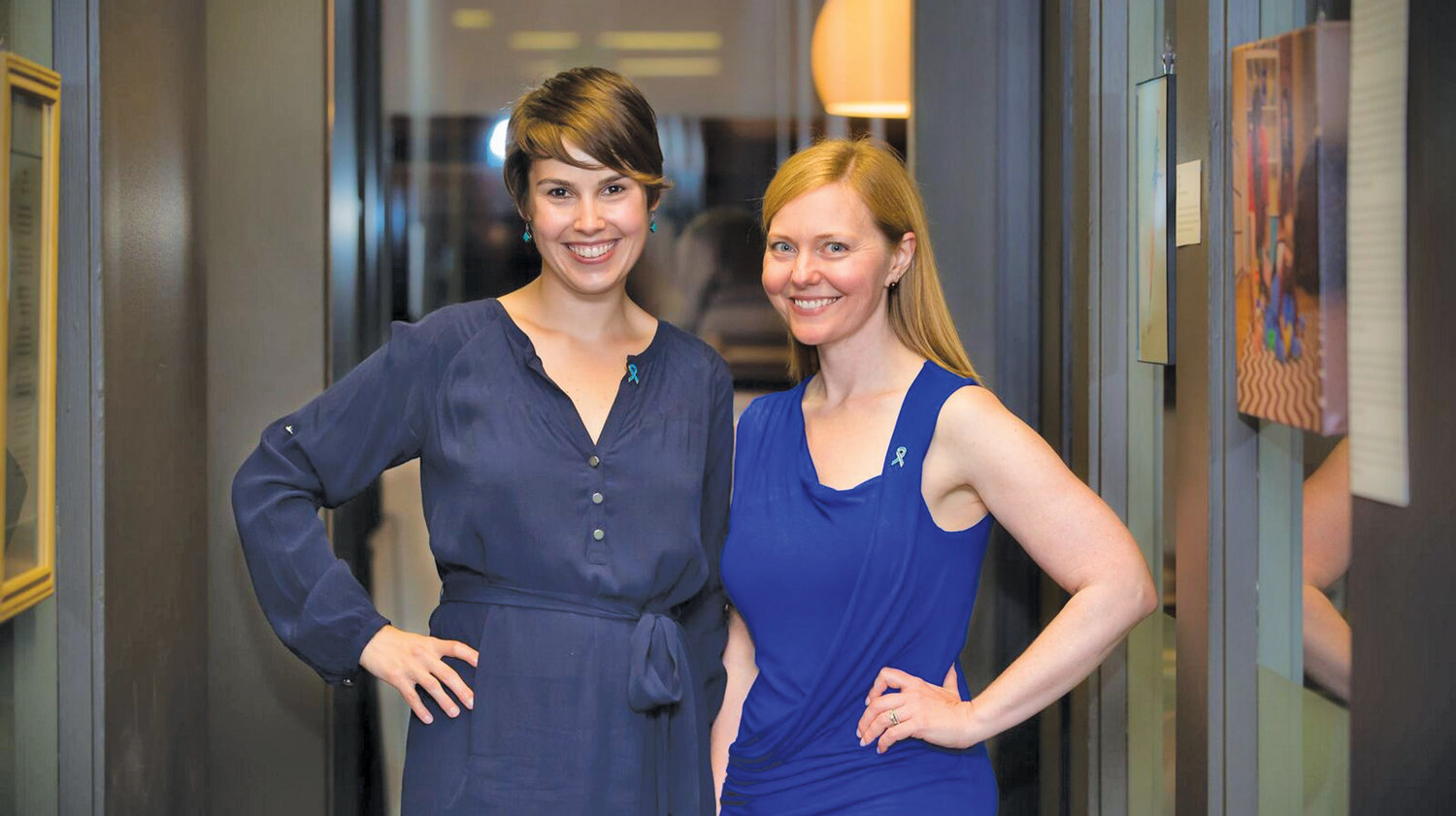 Myaria Novotny (left) and Elizabeth Walker co-founded ART of Infertility to create a safe, creative space for those impacted by infertility.