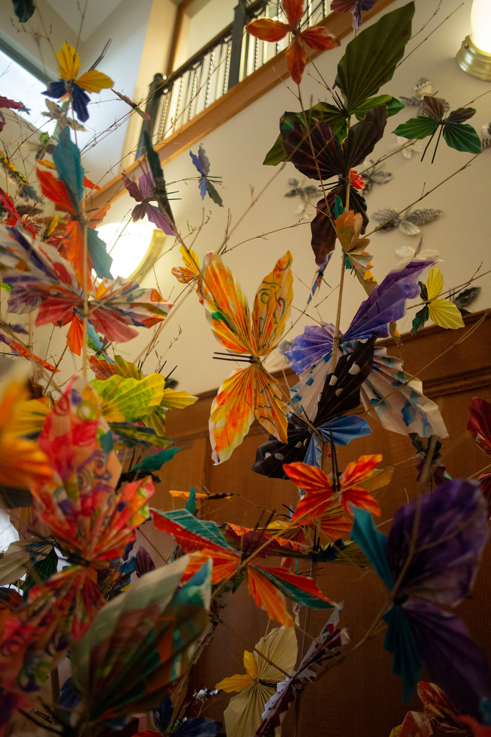 Age Alive hosted various community butterfly-making workshops in East Lansing to facilitate intergenerational conversations.