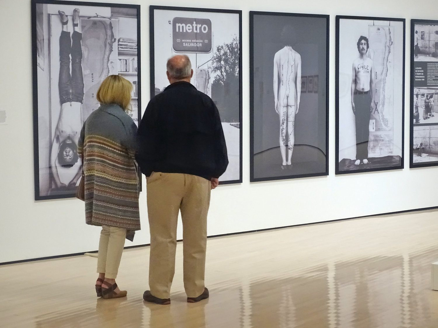 Visitors take in the Broad's current exhibit of dissident art created under the heel of Latin American dictatorships.