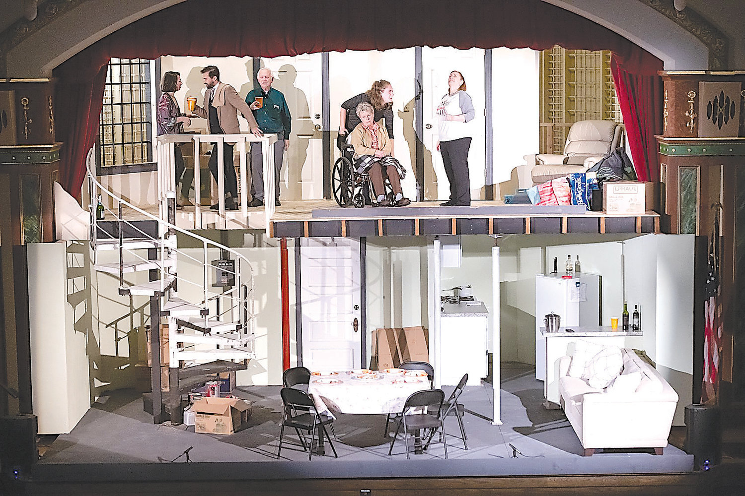 "Peppermint Creek's ""The Human's features an elaborate, two-story set designed by Tracy Smith and Geoff Stauffer."