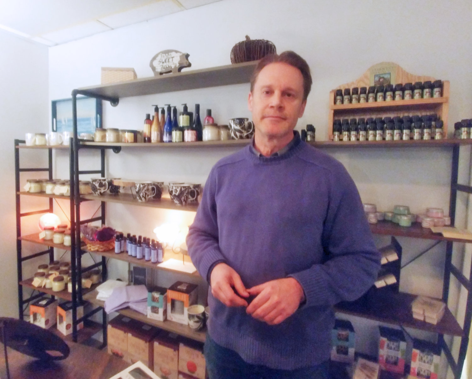Owner of Massage and Wellness Alan Glanz added holistic goods to his shop.