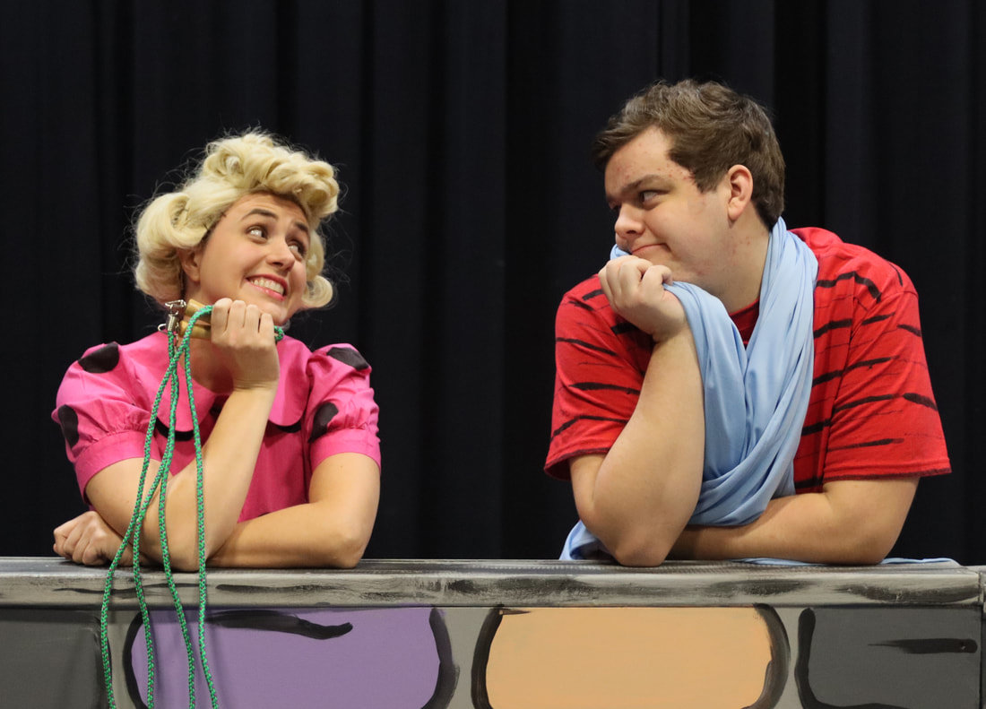 "Taren Going (left) and Braden Cooley in ""You're a Good Man, Charlie Brown."""