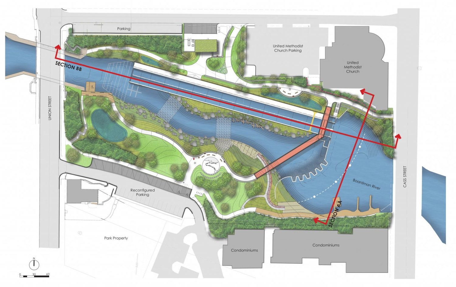 A rendering of the FishPass project.