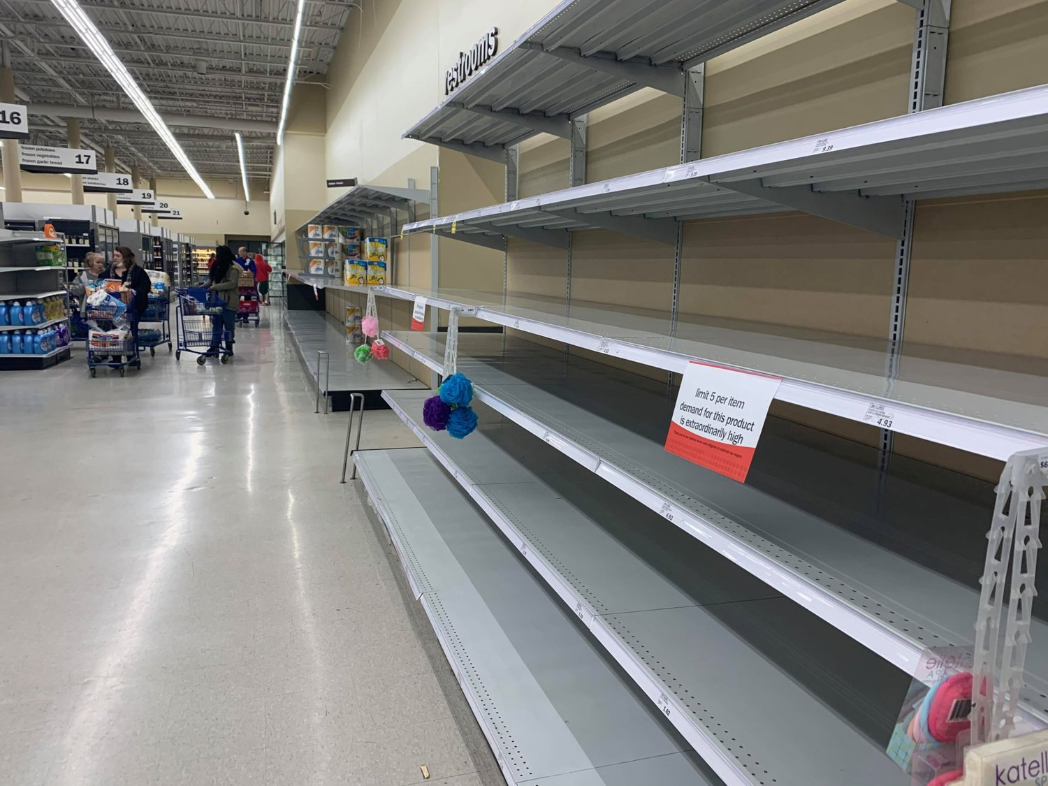 Some shelves at Lansing area Meijer stores have been cleared over the last week as demand continued to outweigh supply.