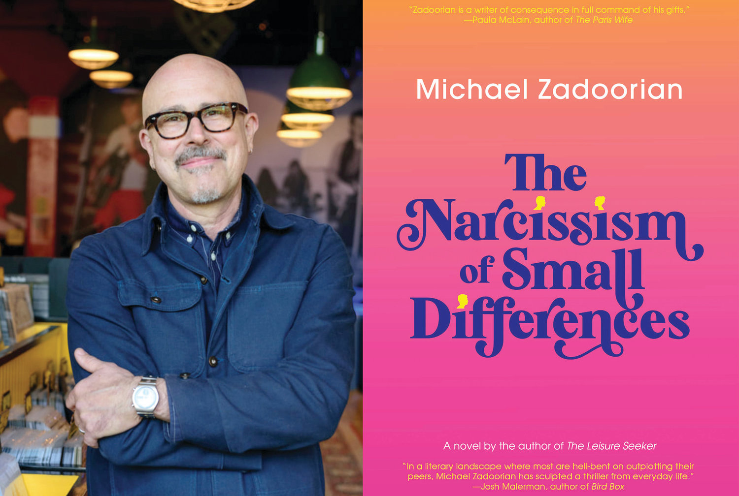 "Michael Zadoorian has released his fourth novel, ""The Narcissism of Small Differences."""