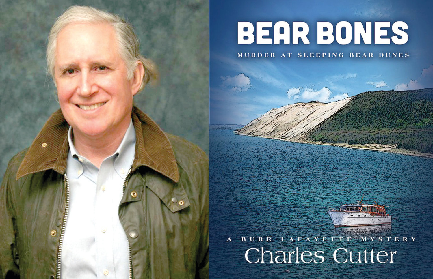 "Author Charlie McLravy and his new book, ""Bear Bones."""