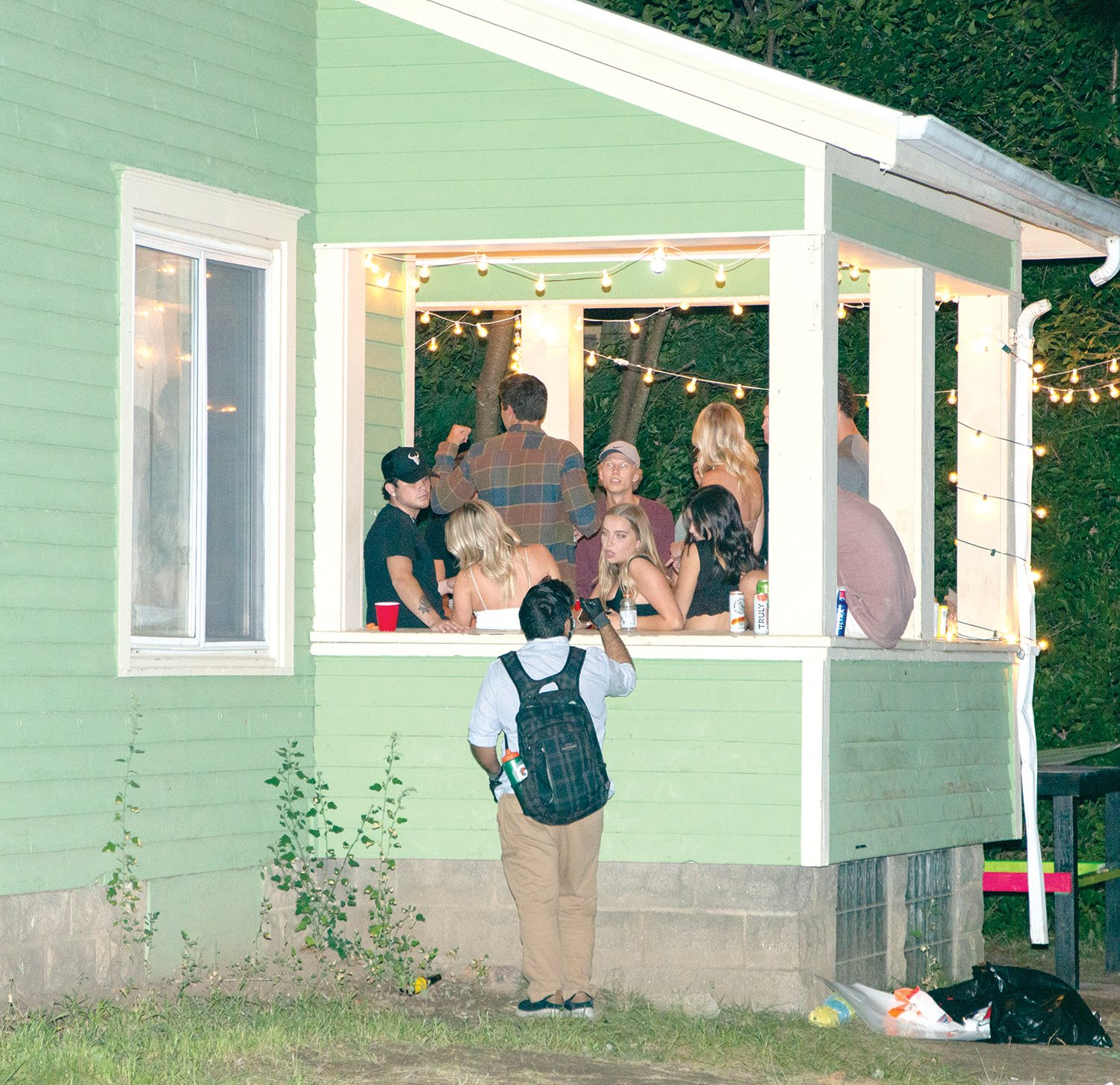 Stephens also checked In on several crowded and noisy house parties on Saturday to remind students about social distancing and the 25-person limit on outdoor gatherings.