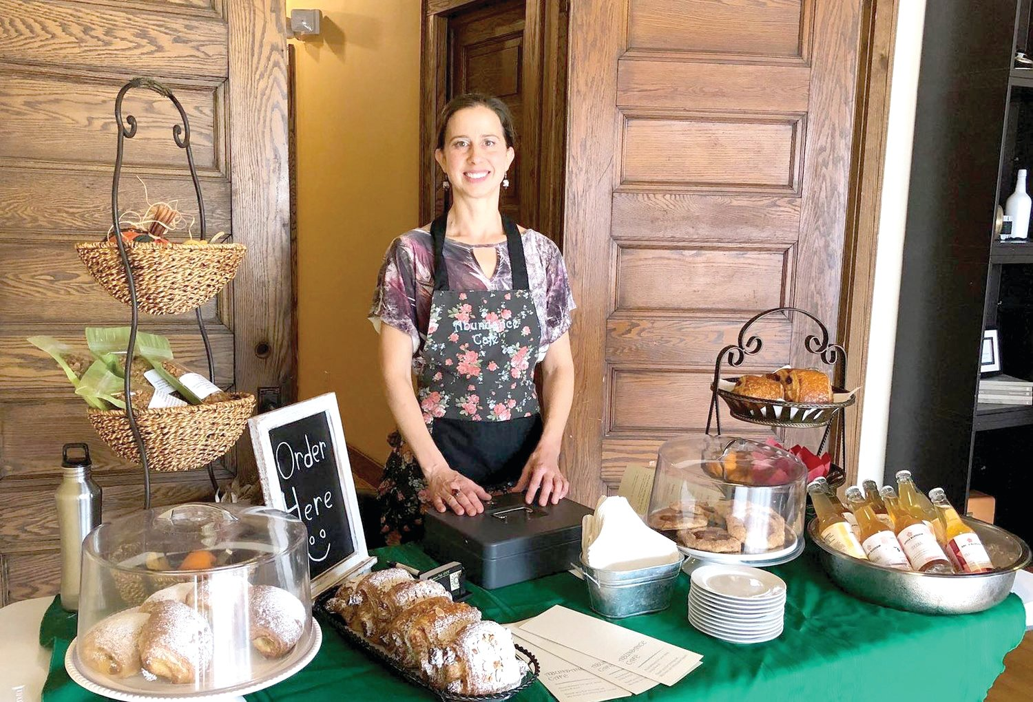 Abundance Café owner Erin Meadows