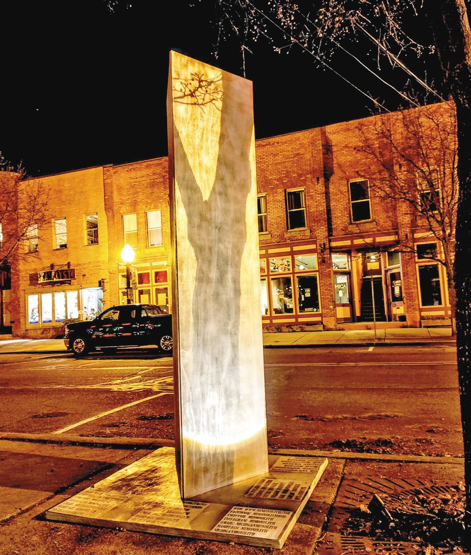 The monolith that appeared in Old Town.