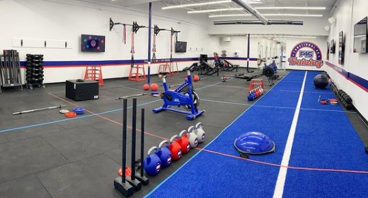 An example of an F-45 Training workout studio.