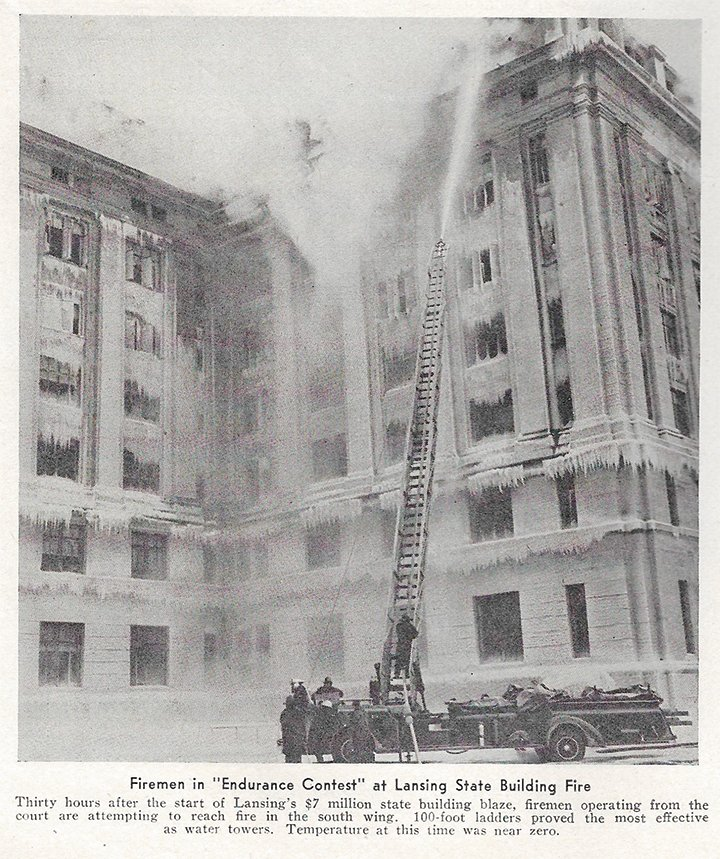 A fire 70 years ago this week engulfing the Elliott-Larsen Building, then known as the State Office Building and