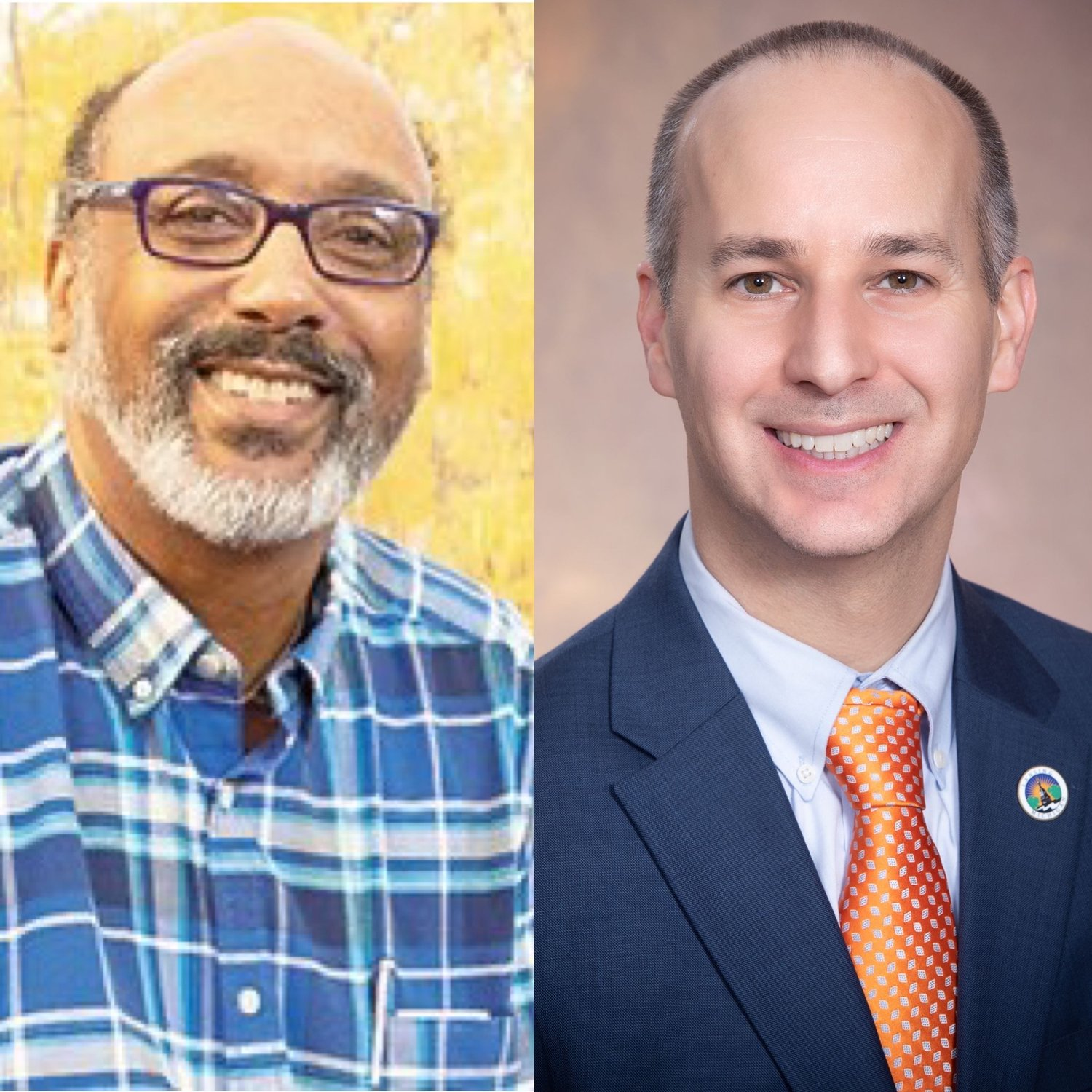Randy Watkins (left) is the chairman of Lansing Mayor Andy Schor's (right) Inclusion and Diversity Advisory.