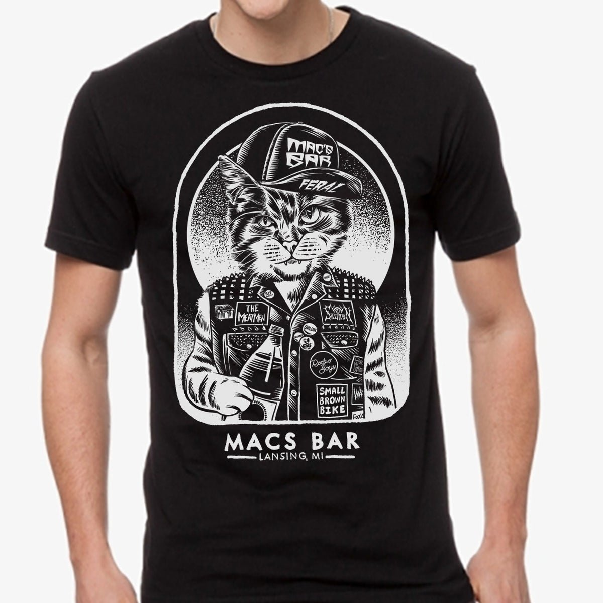 A Mac's Bar-themed T-shirt designed by Craig Horky.