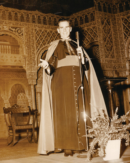 U.S. Archbishop Fulton J. Sheen is pictured in an undated file photo.