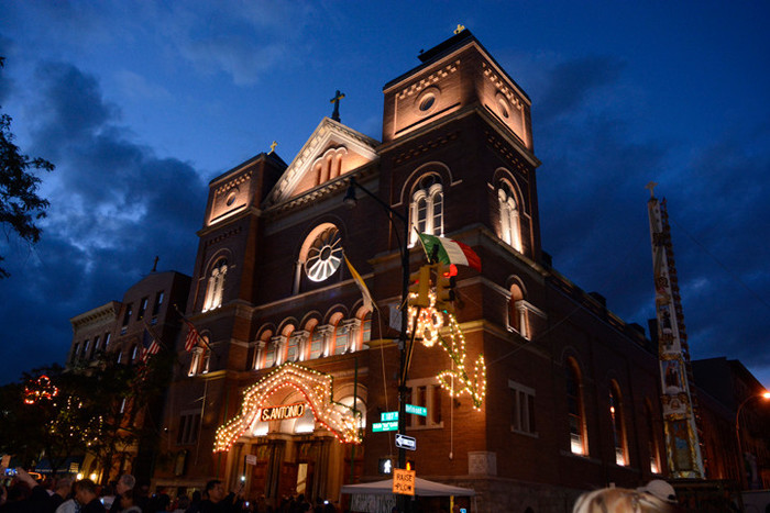 A celebration in honor of St. Anthony of Padua the evening of June 8 showcases the newly refurbished church's exterior and lighting system. Tours of the parish grounds were held. The saint's feast day is June 13.