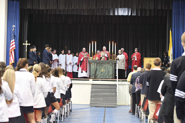Cardinal Dolan was the principal celebrant, and Father Michael Reilly, the school principal, was among the concelebrants at Mass.