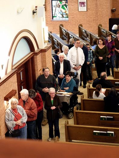 People line up for confession during Saturday of Mercy at St. Martin de Porres in Poughkeepsie on Nov. 5. St. Martin de Porres hosted the sixth and final Saturday of Mercy in the archdiocese during the Year of Mercy, which started on the feast of the Immaculate Conception on Dec. 8, 2015, and concludes on the feast of Christ the King on Nov. 20. Cardinal Dolan discussed mercy before hearing confessions and offering Mass.