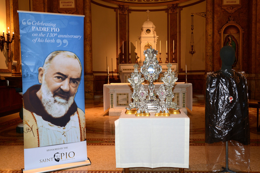 The relics of St. Pio of Pietrelcina visited St. Joseph's Seminary in Dunwoodie, above, and St. Patrick's Cathedral last September during their tour of the United States. The Basilica of St. Patrick's Old Cathedral in lower Manhattan will host the saint's relics Sunday to Saturday, Sept. 16-22.