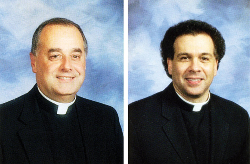 Father Joseph LaMorte, left, Msgr. Gregory Mustaciuolo, right.