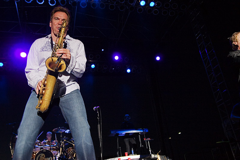 Herrmann is the saxophonist and flautist for one of America's most famous rock bands.