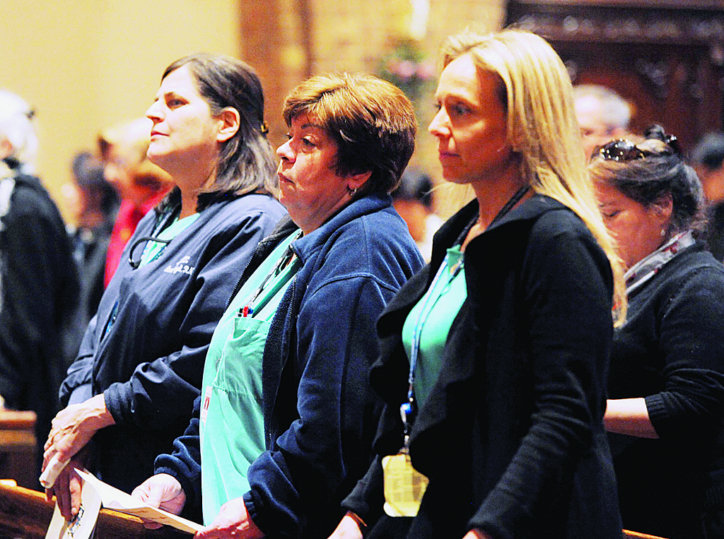 Registered nurses Anna Szul, Lori Gofter and Stephanie Kennedy, of Memorial Sloan Kettering Center were among the health care professionals attending the Mass.