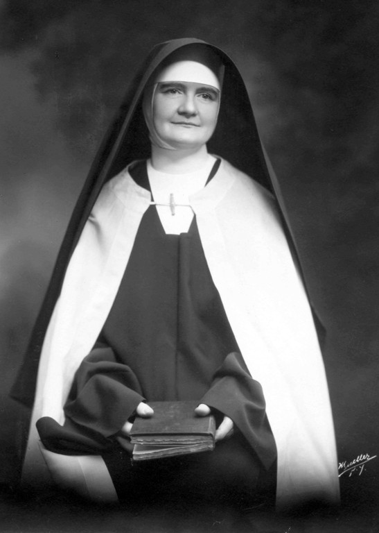 SAINTLY SMILE—Mother Mary Angeline Teresa McCrory, O. Carm., foundress of the Carmelite Sisters of the Aged and Infirm, was declared venerable by Pope Benedict XVI June 28. The Carmelite Sisters run three nursing homes in the archdiocese.
