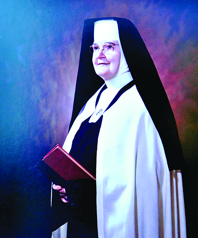 Venerable Mary Angeline Teresa McCrory, O. Carm., foundress of the Carmelite Sisters for the Aged and Infirm, is depicted in a painting at St. Patrick's Home for the Aged and Infirm in the Bronx.