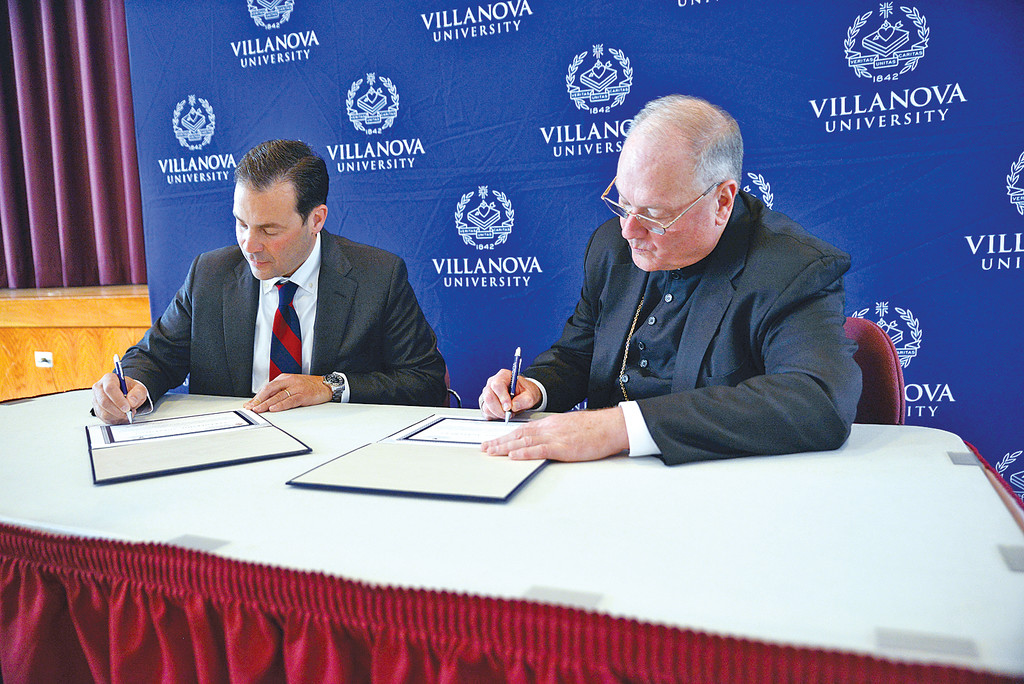 Archdiocese Signs Agreement To Collaborate With Villanova On