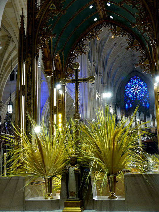 Palms at St. Patrick's Cathedral on Palm Sunday.