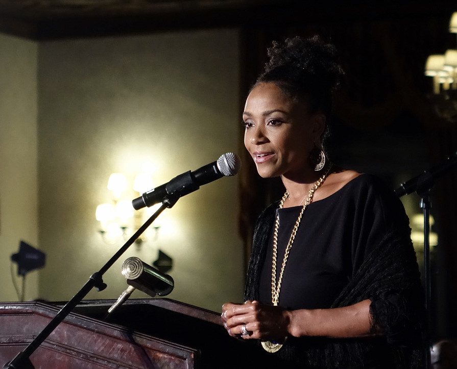 Dominique Dawes speaks at the Pierre Toussaint Scholarship Fund Awards Dinner at the New York Athletic Club on Nov. 7.