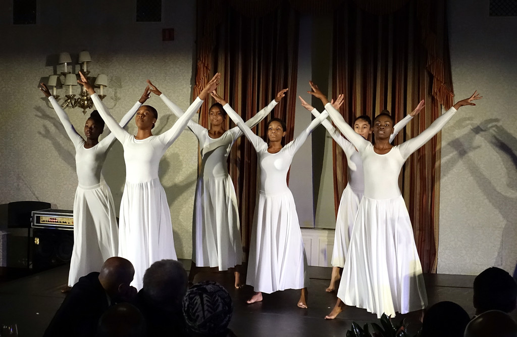 Dancers from Project Performing Arts in Harlem move gracefully at the Pierre Toussaint Scholarship Fund Awards Dinner at the New York Athletic Club on Nov. 7.