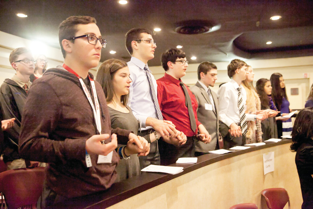 Teens pray at Mass at Honors Haven in Ellenville on Dec. 3.